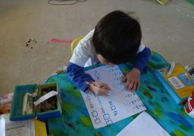 四歳から六歳頃までの机上での学習、気づき・思い・取り組み例など
