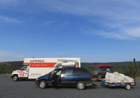 アラスカから米国東海岸へ引越しの旅、中間地点到着!
